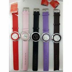 Women Ladies Leather Strap Wrist Watch