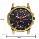 Frosino Analog Numeral With Classic Black Faux Leather Casual Watch- FRAC101818