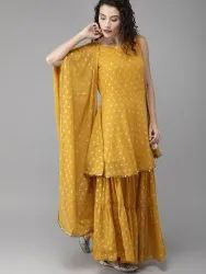 Kurti with Sharara & Dupatta