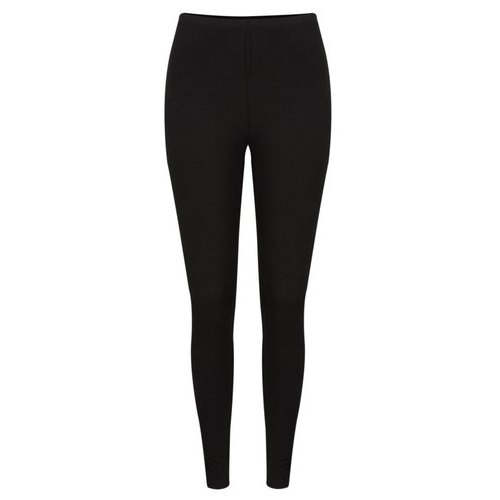 Casual Wear Straight Fit Ladies Black Cotton Leggings, Size: M