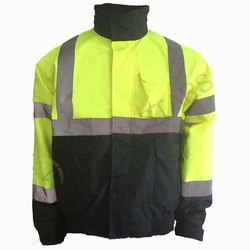 Unisex Full Sleeves Polyester Safety Winter Jacket Twin Coloured
