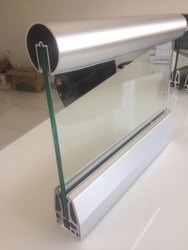 Tempered Glass Panel Aluminium Railing, Material Grade: 6063 T6