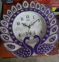 Blue Plastic Decoratice Wall Clock