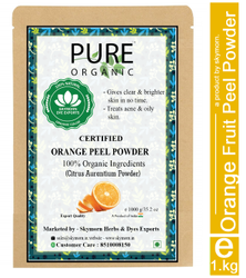 Pure Organic Orange Peel Powder