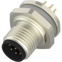 M12 8Pin Male Panel Mount Connector