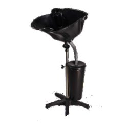 SS And Ceramic Floor Top Colour Wash Basin With Stand, For Salon,Parlour