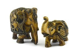 Handmade Antique Resin Pair of Elephant Figurine