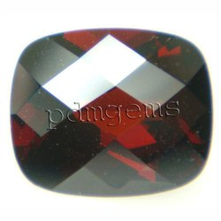 Garnet Faceted Cushion Gemstone