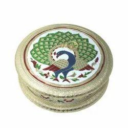 Round Dry Fruit Box Return Gift