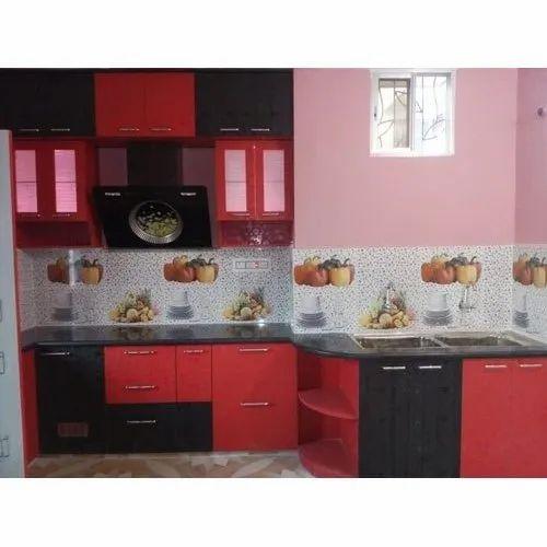 pvc modern modular kitchen at rs 350square feet  pvc