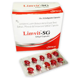 Lycopene, Lutein, B-carotene , Black Grape Seed Extract, Mineral and Antioxidant Soft Gel Capsule