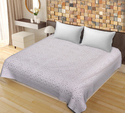 SAAVRA White Color Cut Work Cotton Double Bedsheet