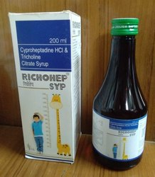 Cyproheptadine HCL and Tricholine Citrate Syrup(RICHOHEP SYP)
