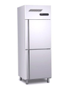 Md Stainless Steel Double Door Vertical Refrigerator, For Commercial, 410 W