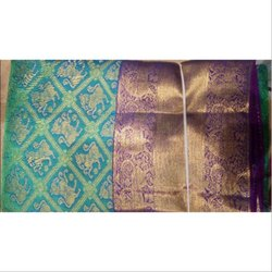 Party Wear Printed Pattu Saree, 5.2 m (separate blouse piece), With Blouse Piece