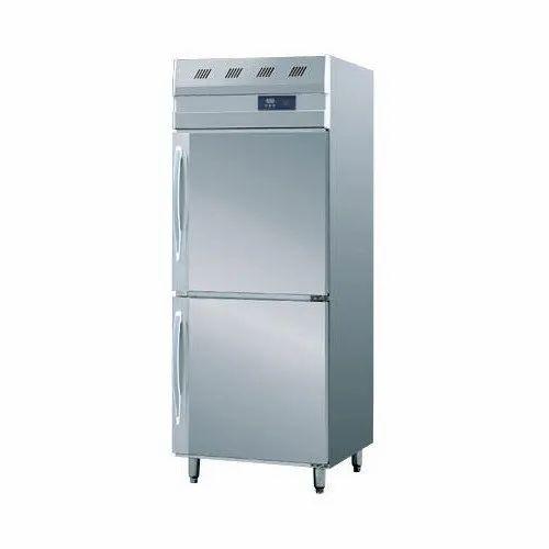 Hoshizaki Stainless Steel Two Door Vertical Freezer, Double Door