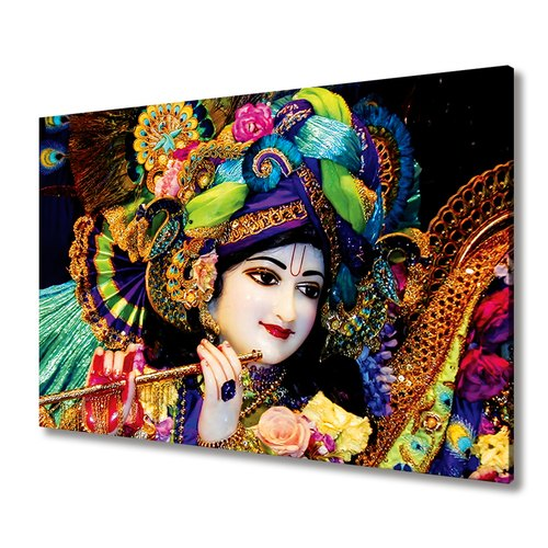 Iskcon Mayapur Lord Krishna Canvas Painting