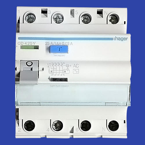 Hager RCCBs - Hager Residual Circuit Breaker (RCCB/ELCB) 25AMP 2