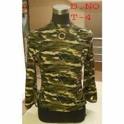 Full Sleeve Green Military Ladies Top
