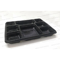 Mahalaxmi 8 Compartment 28 Gm Black Food Packaging Tray