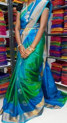 Party Wear Border Ladies Silk Saree, 6.3 m (with blouse piece)