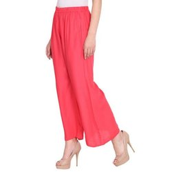 Party Wear Stitched Girls Pink Palazzo, Size: Xxl