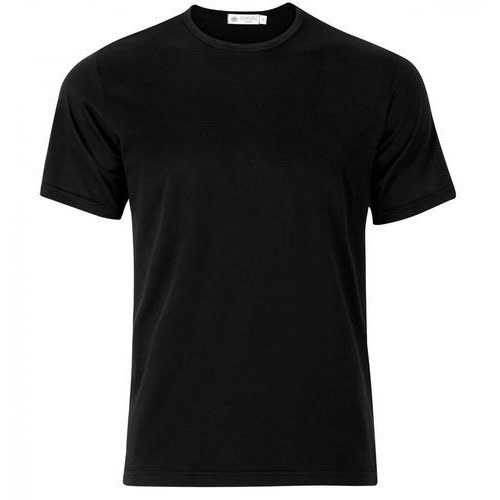 AAICO Men Black Plain T-Shirt