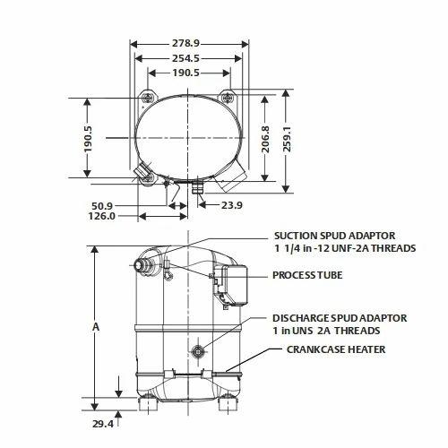 Emerson CR22K6ME -PF1 3 Phase Copeland CRK6 & KQ Compressor ... on