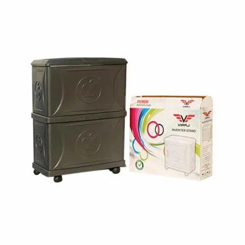 FRP Grey Viraj Inverter Double Battery Trolley, Box Size (mm X Mm X Mm):  640X840X520 Mm, Rs 580 /piece | ID: 18363621733