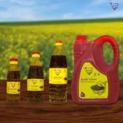 Yellow Kachchi Ghani Shantik Musturd Oil, Packaging Type: Bottle, Packaging Size: 1 Ltr