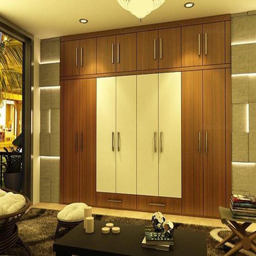 8 Feet * 6 Feet Brown, White Bedroom Wardrobe, Rs 1000 /square feet ...