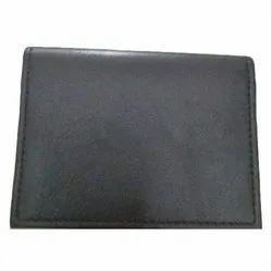 Black Male Mens Plain Wallet