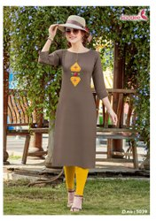 Ladies Rayon Hand Work Kurti