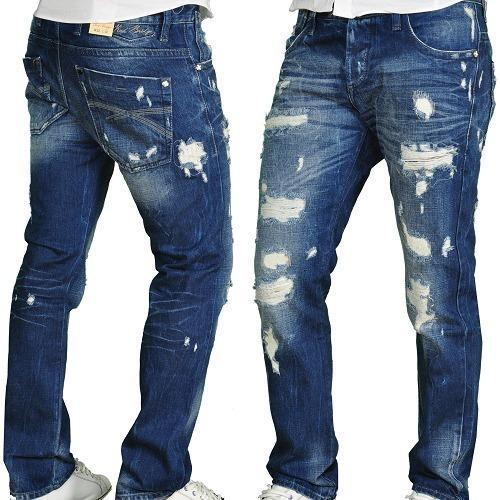 6122560b5b1 Ripped Blue Mens Denim Jeans, Waist Size: 32 And 34, Rs 550 /piece ...