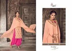 Shree Fabs Present Nipoor Rangoli Heavy Embroidery Patiyala Dress