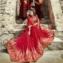 Georgette Embroidered Saree With Blouse