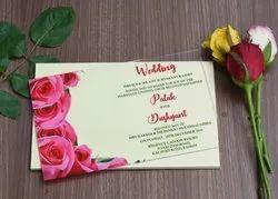 Multi Color Floral Acrylic Wedding Invitation Card, Size: 8