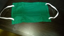 Green Cotton Face Mask