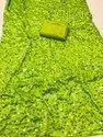 Two Tone Moss Chiffon Embroidery Saree