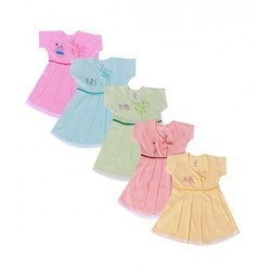 Cotton Baby Girls Frock, Size: 20, 22, 24, 26