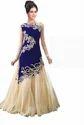 Krishna Blue Georgette Unstitched Dress Material