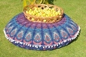 Blue Badmeri Round Cushion