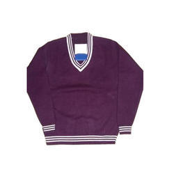 Woolen V Neck Kids School Sweater