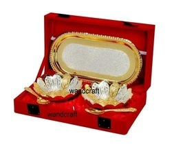 Silver And Gold Plated Bowl Set