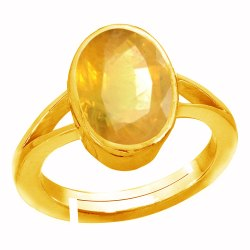 Pukhraj Gold Anguthi Asthdhatu Gemstone
