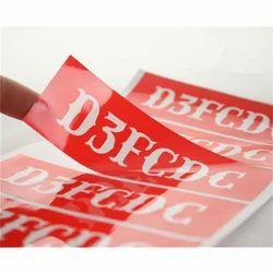Rectangular Adhesive PVC Label Sticker, Glossy
