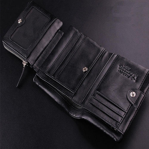 Trifold Mens Leather Wallet Size 45 X 35 X 06 Inches Rs 150