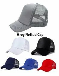 Netted Grey Mesh Cap