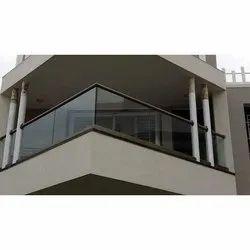 Balcony Aluminium Aluminum Glass Railing