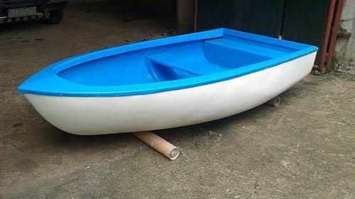 Blue, White FRP Boat